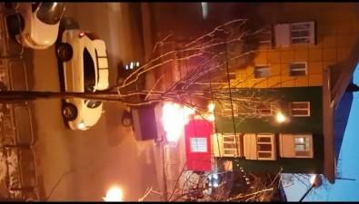 На улице Ленина вЮжно-Сахалинске сгорел автомобиль