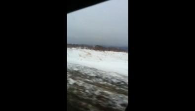 Рейсовый автобус оказался вснежном плену вДолинском районе