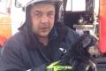 В Александровске-Сахалинском пожарный спас собаку