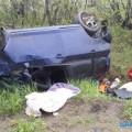 Возле села Соловьевка перевернулась иномарка
