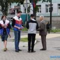 Поронайцы приняли участие вакциях, приуроченных коДню государственного флага