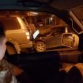 Land Cruiser иMark II поздним вечером столкнулись напроспекте Мира вЮжно-Сахалинске