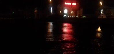 Потоп, пропавший нарассвете, заметили ночью жители областного центра