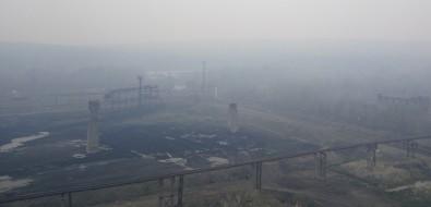 Дымом отгорящего леса окутаны населенные пункты вПоронайском иМакаровском районах
