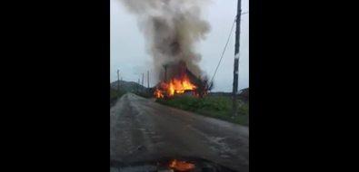 В селе Новосибирском сгорел дачный дом