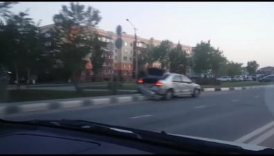 Участники ДТПдистанцировались друг отдруга врезультате столкновения напроспекте Мира вЮжно-Сахалинске