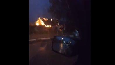 Частный домсгорел утром вТроицком