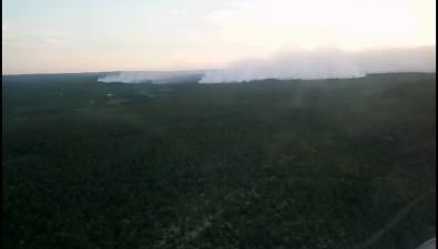 В Охинский район стягивается всебольше человек итехники дляборьбы слесным пожаром