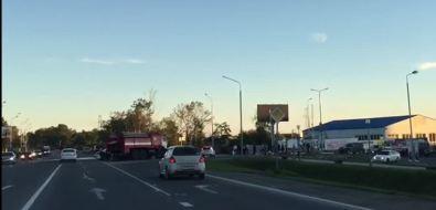"""Мотоцикл иавтомобиль столкнулись возле """"Сити Молла"""""""