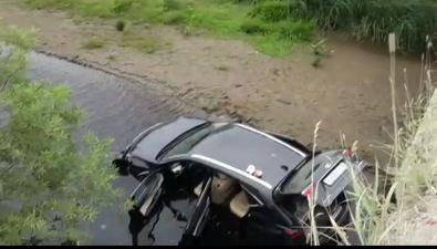 Lexus NX нырнул вреку вАнивском районе