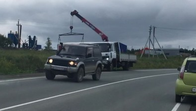 """Тойота"" невписалась вповорот вКорсаковском районе"