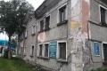 Фасад дома №92 напроспекте Мира вЮжно-Сахалинске завесят баннером