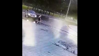 На улице Детской вЮжно-Сахалинске сбили молодую женщину