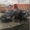 Mitsubishi RVR иToyota Crown столкнулись наХолмском шоссе