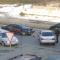 Такси попало вДТП наулице Комсомольской вЮжно-Сахалинске