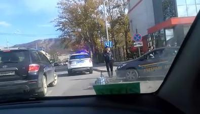 На улице Пограничной вЮжно-Сахалинске сбили велосипедистку