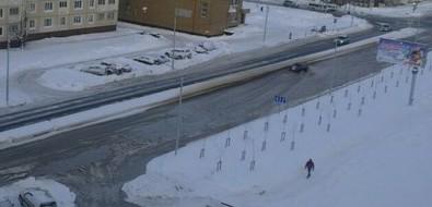 В Южно-Сахалинске затопило улицу Комсомольскую