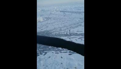 На Сахалине оторвало первую вэтом году льдину срыбаками