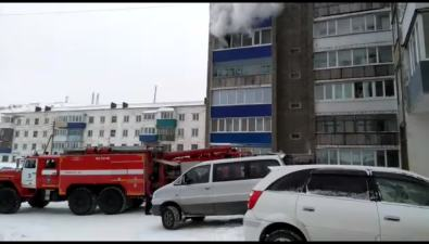 В Холмске горит квартира вдоме поулице Крузенштерна