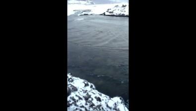 В Холмском районе очищают устье ручья Восточного, чтобы избежать подтопления домов вЯблочном