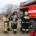 Сотрудники МЧСна Сахалине тренировались тушить лесные пожары