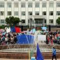 Корсаковцы устроили спортивный праздник вчесть футбольной сборной страны