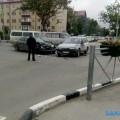 Toyota Chaser протаранила другую Toyota вцентре Южно-Сахалинска