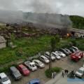 В Южно-Сахалинске загорелась брошенная военная техника