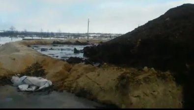 Жители Вала, недовольные складированием нефтесодержащих отходов, решили выйти намитинг