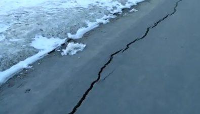 Новый тротуар наулице Комсомольской вЮжно-Сахалинске покрылся трещинами
