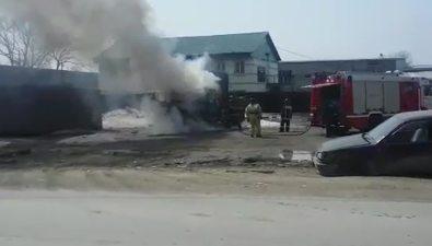 Кран-балка сгорела наулице Крюкова вЮжно-Сахалинске