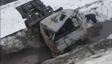 В Долинском районе вылетел страссы грузовик срыбой
