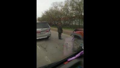 Минивэн ивнедорожник столкнулись насевере Ново-Александровска
