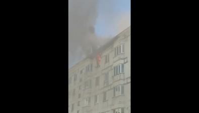 В Луговом загорелась кухня квартиры впятиэтажке