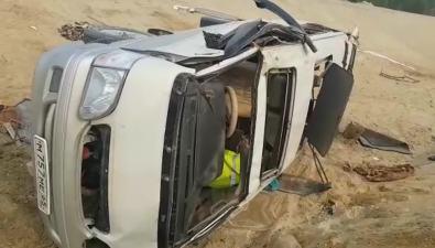 Недалеко отсела Горячие Ключи водитель несколько разперевернул свой автомобиль