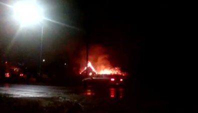 Загоревшийся ночью домв Охетушили почти тричаса
