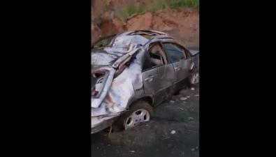Автомобиль сорвался с20-метрового обрыва вТомаринском районе