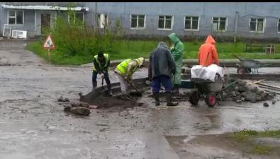 """В Северо-Курильске ломают недавно установленные бордюры, потому что""""ошиблись врасчетах"""""""