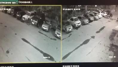 Возможные поджигатели FJ Cruiser замначальника Сахалинского линейного отдела полиции попали накамеру видеонаблюдения