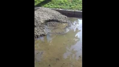 Южносахалинцы жалуются нафекальные реки водворе дома №167 наулице Амурской