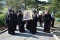 В корсаковский мужской монастырь доставили икону Божией Матери
