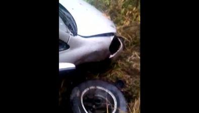 Водитель Toyota Ipsum лишился ухав результате аварии натрассе Южно-Сахалинск— Оха