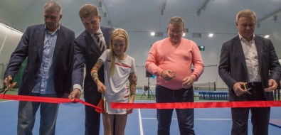 """Новый спортивный комплекс """"Гидрострой"""" вЮжно-Сахалинске будет развивать детский теннис"""