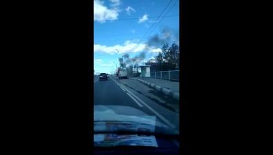 """На автобусной остановке вЮжно-Сахалинске вспыхнула """"буханка"""""""