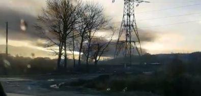 Утром вЮжно-Сахалинске загорелась городская свалка