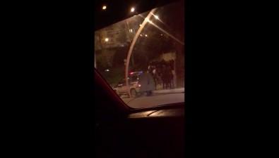 В Корсакове лицом кстене здания полиции поставили около 20 человек