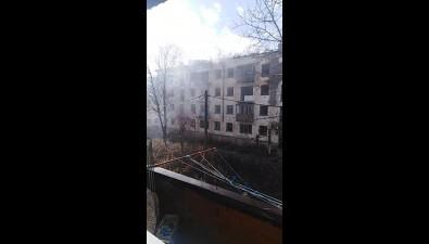 В Быкове втретий разза полгода горит расселенный дом