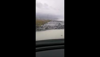 Из-за непогоды размыт участок дороги кзаводу СПГв Пригородном