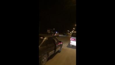 В Холмске перевернулся уходивший отпогони Nissan