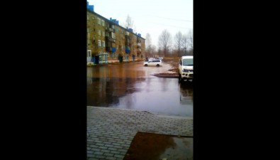 В Леонидово утонул вчера отремонтированный двор